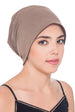 Deresina Reversible unisex beanie for hairloss cacao umber