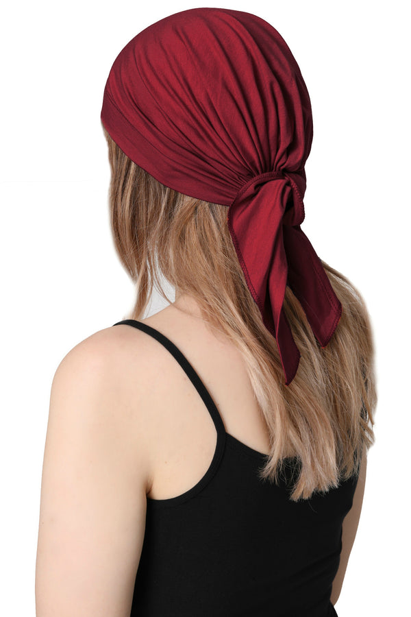 Simple Tie Bandana - Burgundy