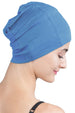 Snug Fit Sleep Cap-Caroline Blue