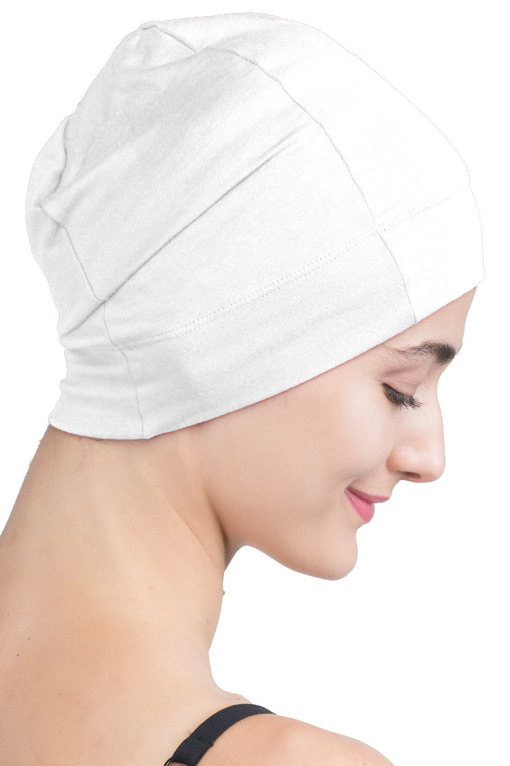 Snug Fit Sleep Cap - Cream