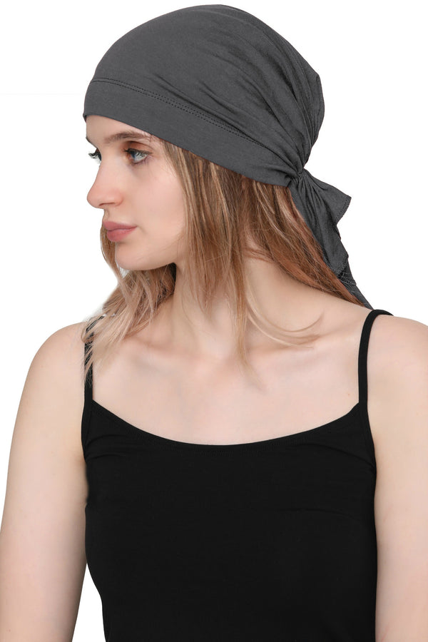 Simple Tie Bandana - Charcoal