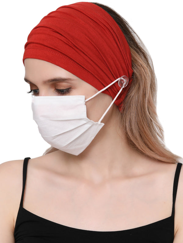 Stretchy Headband for Mask with - Cinnemon