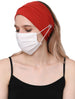 Clear Button Plain Headband for Mask - Cinnemon