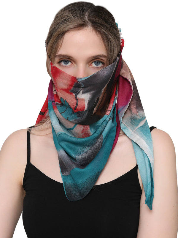 Unisex Scarf Face Mask, Headscarf, Neckscarf, Bandana- Colourful