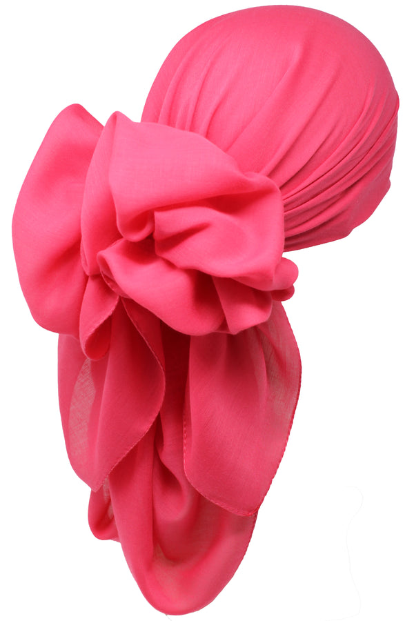 Bamboo Square Scarf - Coral