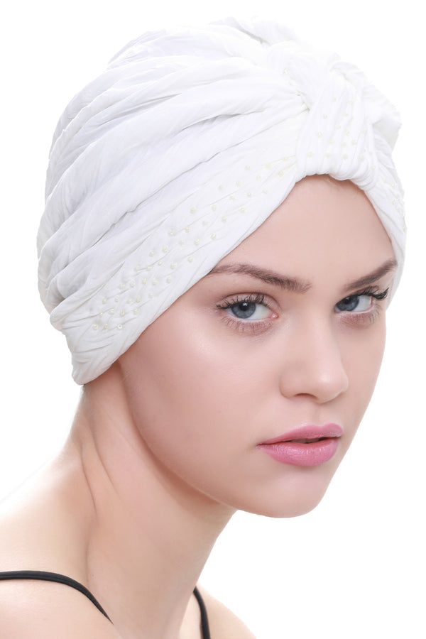 Deresina Beaded w turban for hairloss cream