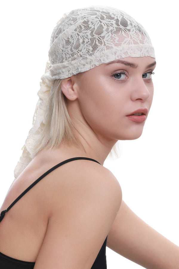 Lace Bandana - Cream
