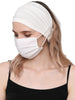 Stretchy Headband for Mask - Cream