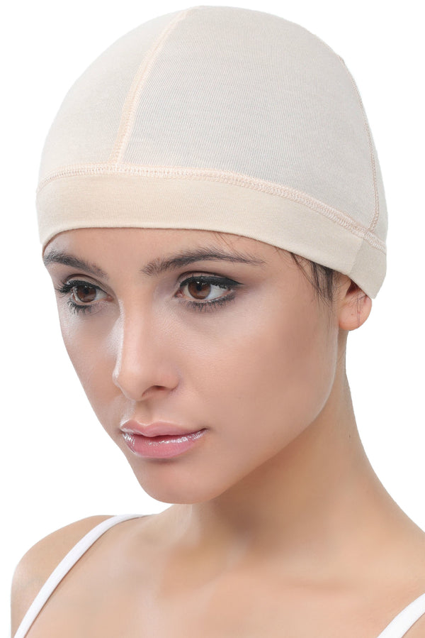 Bamboo Wig Cap - (Beige Pack of two)