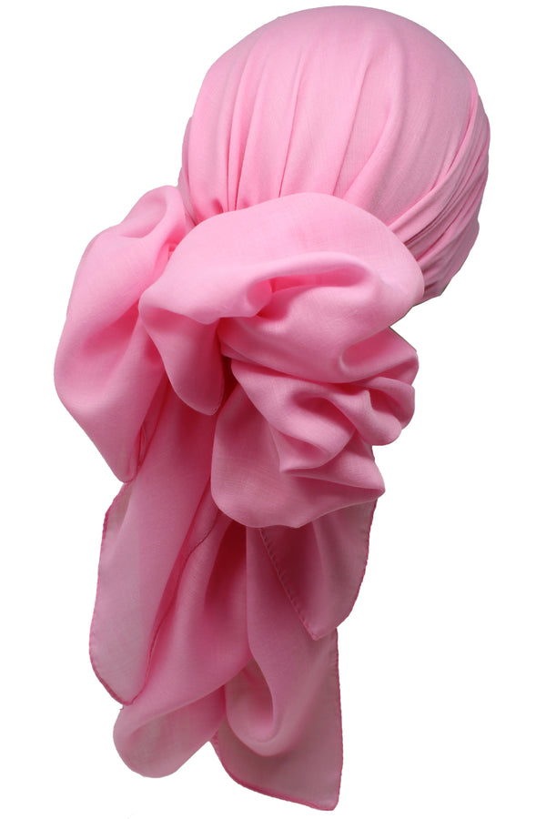 Bamboo Square Scarf - Daisy Pink