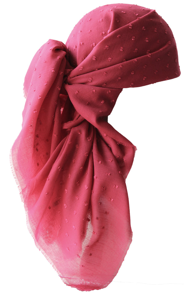NEW-Everyday Special Square Headscarf- Deep Pink Teeny Weeny