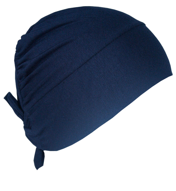Unisex Tie Back Cotton Cap - Denim