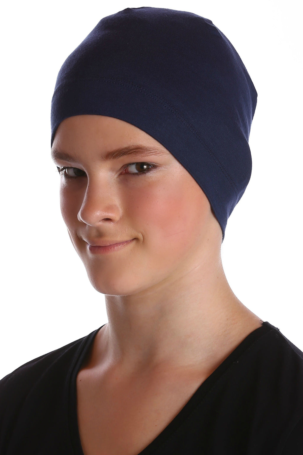 Deresina teen beanie for hairloss denim