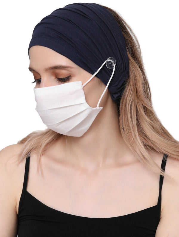 Stretchy Headband for Mask - Denim