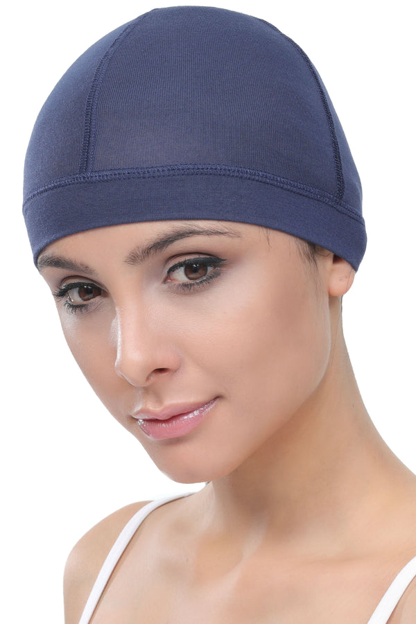 Bamboo Wig Cap - (Denim Pack of two)