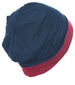 Reversible Beanie for Men -Denim/Burgundy