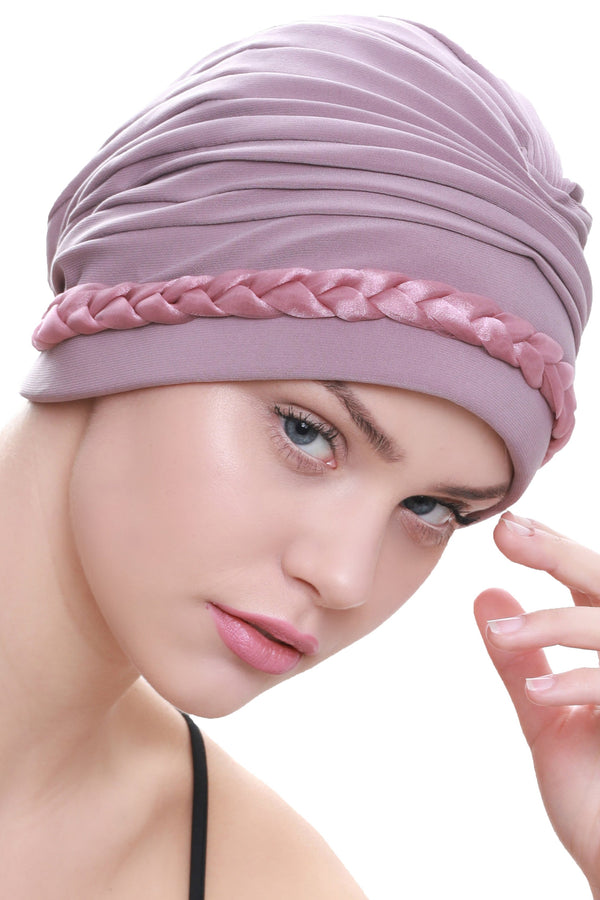 Deresina Braided detail chemo turban dustylila