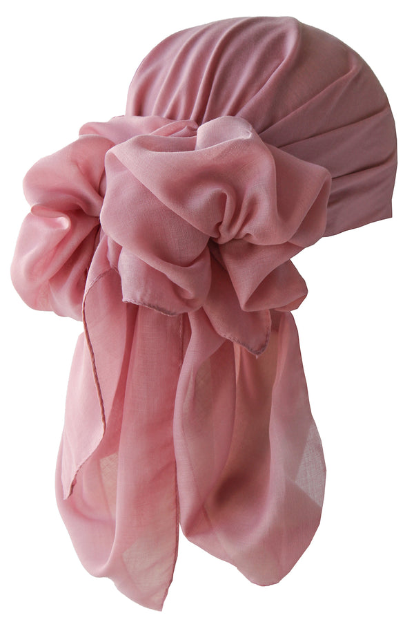 NEW-Plain Square Headscarf- Dusty Rose