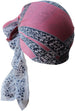 Deresina Everyday square chemo headscarf dusty rose navy frame