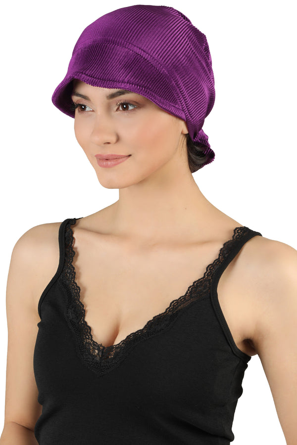 Tie Back Casual Pretty Hat - Jazzberry
