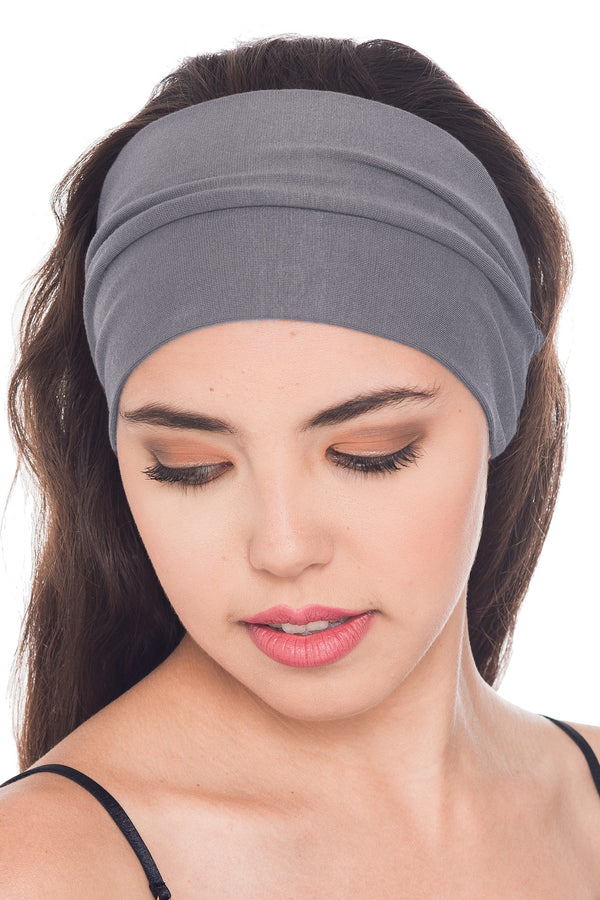 Plain Headband - Grey
