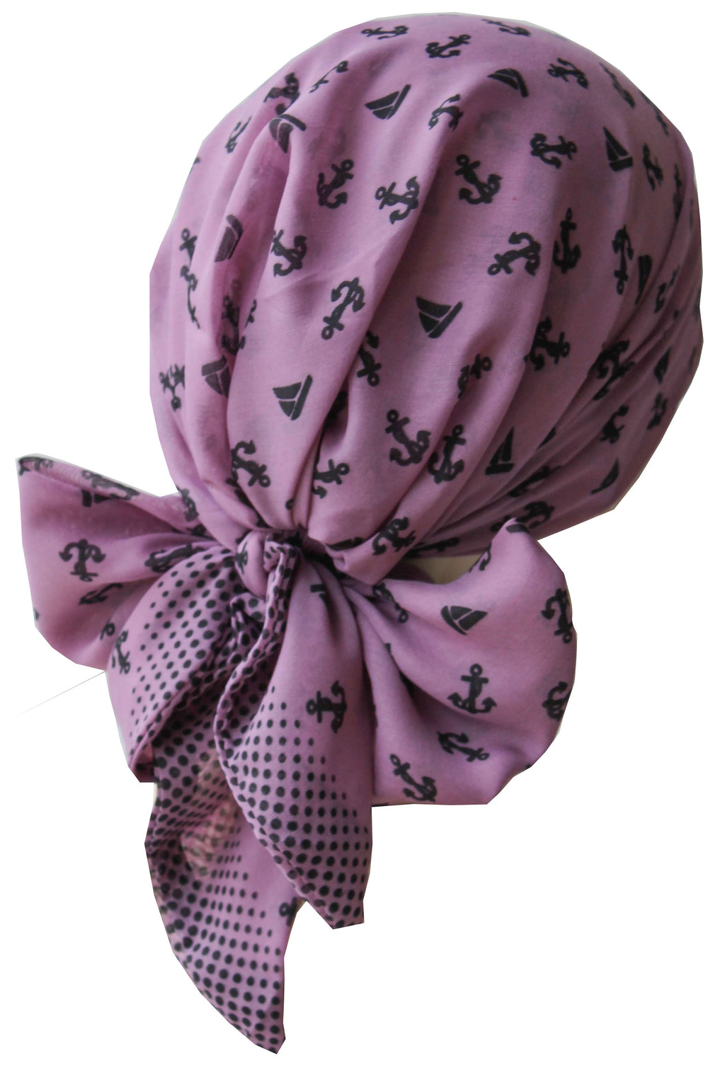 Deresina Easy tie chemo headscarf for girls grape printed