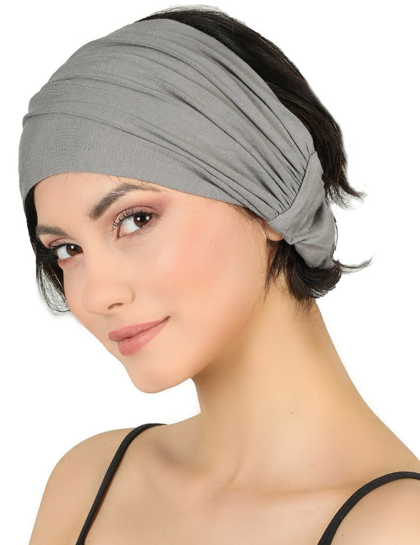Elasticated Stretchy Headband - Grey