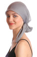 Deresina Easy tie chemo headscarf grey