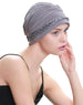 Deresina Braided detail chemo turban cloud grey
