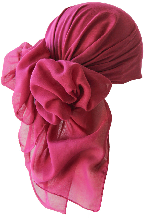 NEW-Plain Square Headscarf- Jam