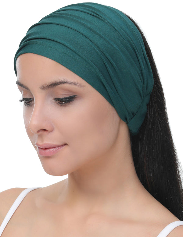 Elasticated Stretchy Headband - Jade