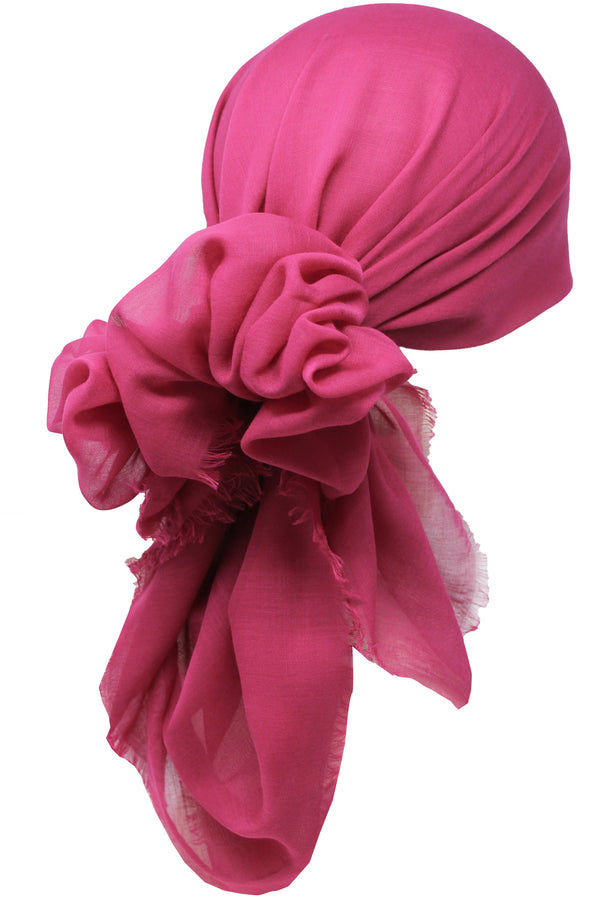 Ultra Soft Head Scarf - Jazzberry with Edges