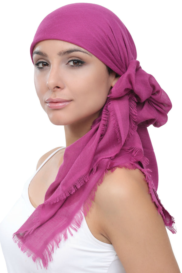 Seasonal Head Scarf-Jazzberry with Edges