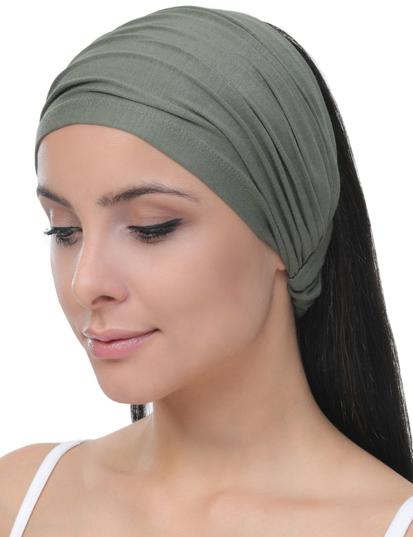 Elasticated Stretchy Headband - Khaki