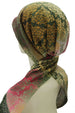 Easy Tie Head Scarf  (13-Khaki Patterned)