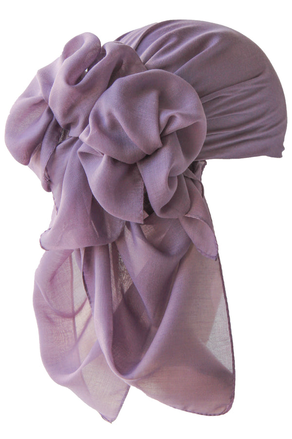 NEW-Plain Square Headscarf- Lavander