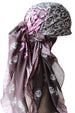 Large Square Head Scarf  - Lavender Grey