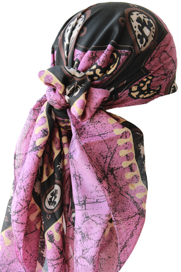 Large Square Head Scarf  - Lila