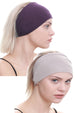 Yogi Headband-Mulberry/Taupe 2pcs