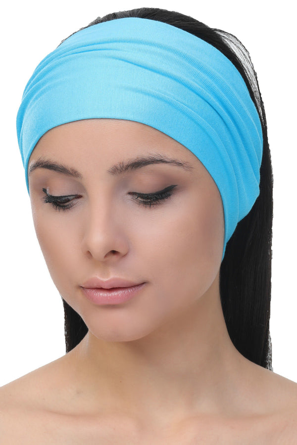 plain deresina headband maya blue