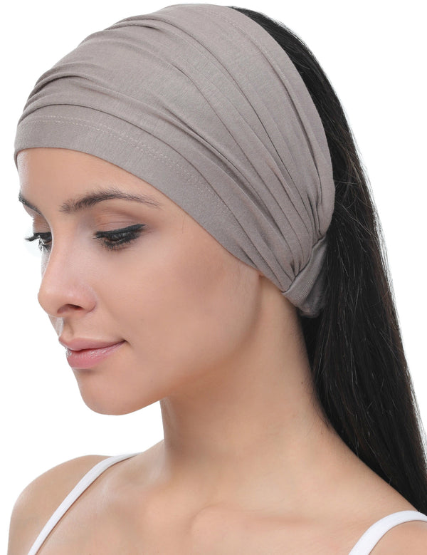 Elasticated Stretchy Headband - Mink