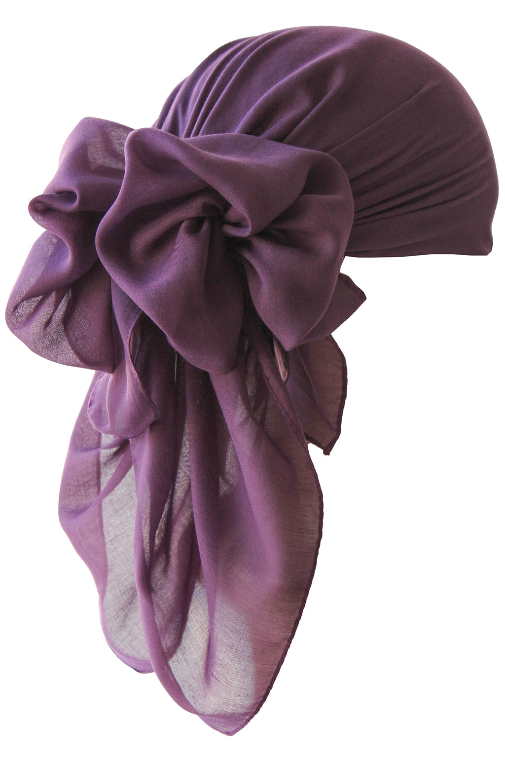 Everyday Square Head Scarf - Plain Mulberry
