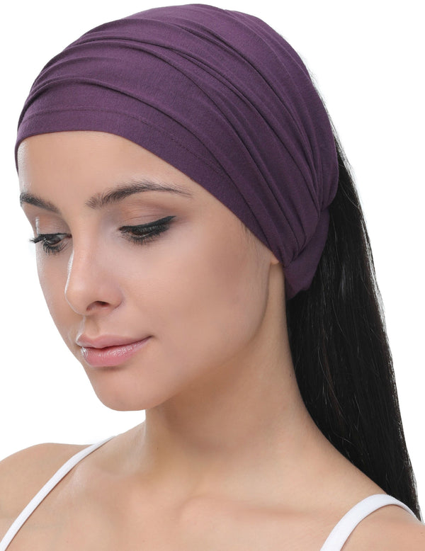 Elasticated Stretchy Headband - Mulberry