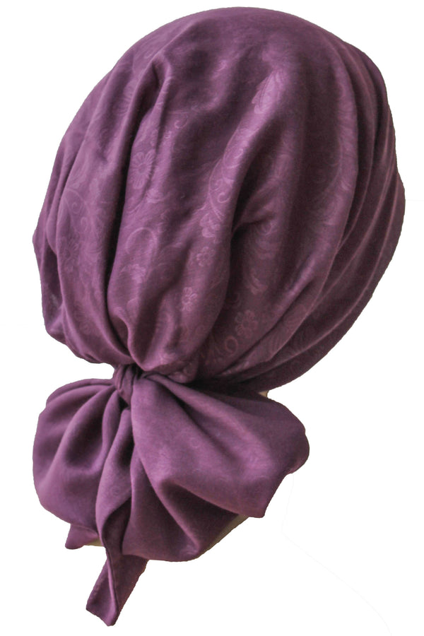 Deresina Easy tie chemo headscarf 38 mulberry