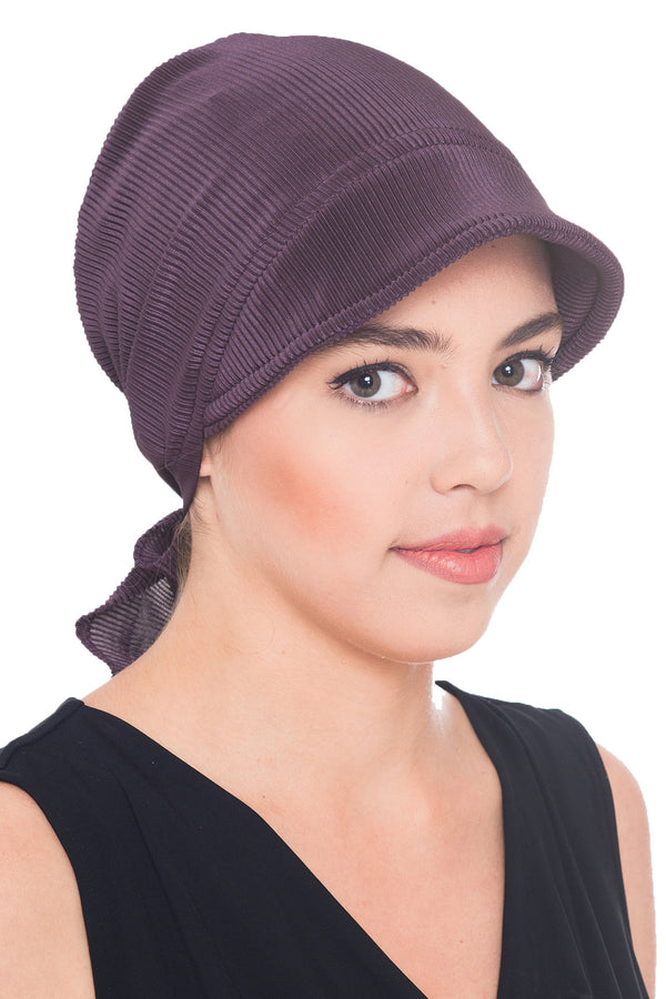 Casual Pilisse Soft Visor Hat - Mulberry