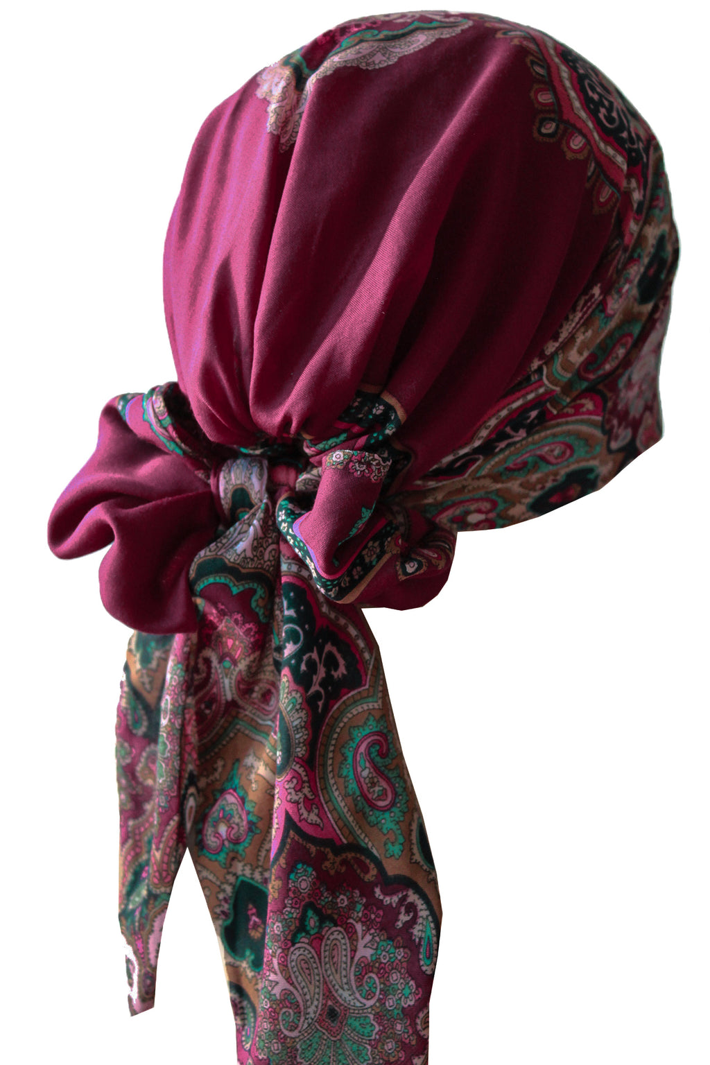 Easy Tie Head scarf (Mulberry Goblen Design)