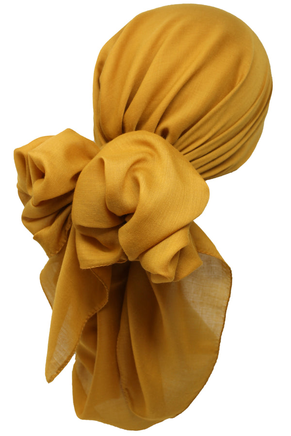 Bamboo Square Scarf - Mustard
