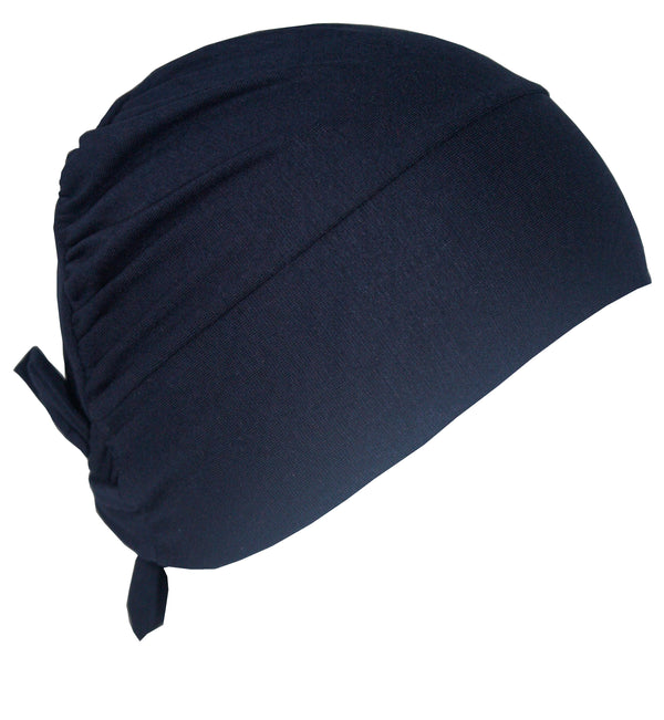 Unisex Tie Back Cotton Cap -Navy