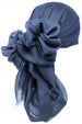 Ultra Soft Head Scarf - Navy with Edges