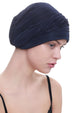 Deresina versatile plisse headwear for hair loss black